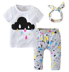 Color Splat Baby Girl Outfit