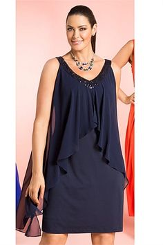 Plus Size Women's Fashion - Sara Layered Shift Dress - EziBuy Australia 2013