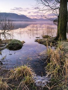 Ulswater at dawn in Winter. The English Lake District.