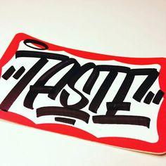 so clean, so Taste Graffiti Lettering Fonts, Graffiti Alphabet, Typography, Learn Photoshop, Graffiti Tagging, Graffiti Styles, Love Stickers, Street Art Graffiti, Art Logo
