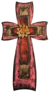 Faded Pink/Red Stacked Cross, Mardel