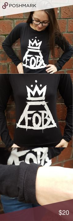 Fall Out Boy Long Sleeve Tee Rock the logo from Fall Out Boy's Save Rock And Roll album 🤘🤘🤘🤘 (their best album in my opinion)   Questions? Just ask :) Hot Topic Tops Tees - Long Sleeve