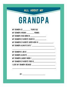 Fathers Day Printable -dad/ grandpa