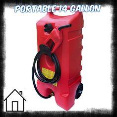 Amazon.com: Portable Fuel Gas Tank Storage Shop 14 Gallon Fluid Transfer Pump Gasoline Diesel Kerosene - House Deals@: Automotive