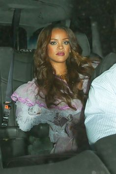 February 12: Rihanna arriving at the Grammy Afterparty at 1 OAK Nightclub