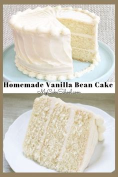 This Moist Vanilla Bean Cake recipe from scratch is an amazing layer cake that is sure to become a favorite! This Moist Vanilla Bean Cake recipe from scratch is an amazing layer cake that is sure to become a favorite! Brownie Desserts, Köstliche Desserts, Delicious Desserts, Dessert Recipes, Cake Recipes From Scratch, Easy Cake Recipes, Frosting Recipes, Wedding Cake Recipes, Vanilla Cake From Scratch
