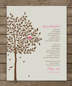 Baptism Gift from Godparents  Baby Girls by WordsWorkPrints, $20.00