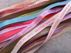 Panachage de couleurs pour ces bracelets messages pour le Baptême de Fantine