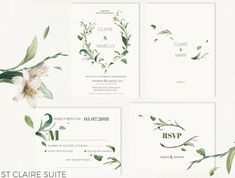 This Green Foliage Wedding Suite features pretty muted colours of green and creams with vintage rustic floral elements. Modern Minimalist Design Double sided design included, you choose whether to print both sides. ♥ This listing INCLUDES: -Customised high resolution files for : 5 x 7 Invitation (fits in A7 envelope) ADD ONS: CAN INCLUDE - Thank you card - RSVP - RSVP Postcard (double sided) - Information/Details Card - for accommodation, registry, wedding website details etc - Wishi...
