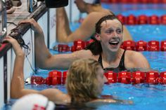 Olympics Day 7 - Swimming Katie Ledecky youngest Olympian to win gold