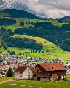 The rustic landscape of Appenzellerland, Switzerland.