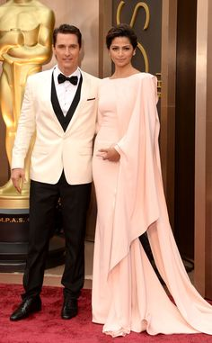 Matthew McConaughey in Dolce&Gabbana and Camilla Alves from 2014 Oscars Red Carpet Arrivals