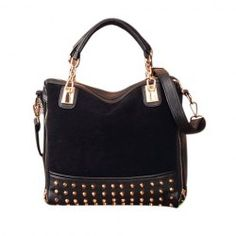 45051df27c  20.17 Casual Women s Tote With Punk Style and Rivets Zipper Design Cute  Cheap Outfits