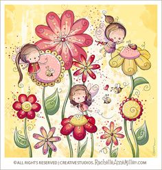 All Artwork Copyright Rachelle Anne Miller Creative Studios. All Rights Reserved. Art And Illustration, Doodle Art, Cute Clipart, Beautiful Drawings, Whimsical Art, Belle Photo, Cute Art, Illustrators, Artsy