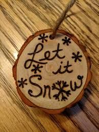 Image result for wood burning christmas ornaments