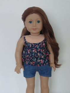 Ruffled Top and/or Denim Short Shorts for American by BuzzinBea