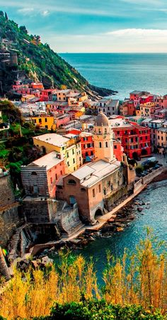 Vernazza, Italy: the home of pesto sauce. Any visit without a slice of pesto pizza is an unfulfilled visit! But don't worry about the calories, Vernazza has some of the most beautiful seascape views for hiking.