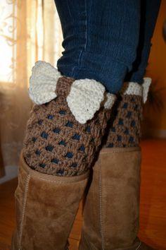 WomenTeen+Crochet+Boot+Cuffs+Boot+toppers++Leg+by+OrawanCrochet,+$25.00