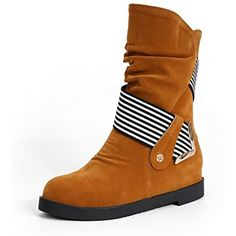 Women's Low-Top Assorted Color Pull-On Round Closed Toe Low-Heels Boots