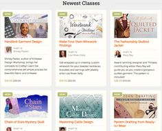 Learn something new and get up to 25% off the newest online classes from Craftsy! Design custom knitwear with Shirley Paden, quilt a mystery with Kimberly Einmo, sew a stunning quilted jacket with Mary Ray, and more! Get unlimited lifetime access once you sign up and watch your class whenever you want, backed by Craftsy's 100% money back guarantee. Click: http://www.craftsy.com/ext/20130210_14_General_1c