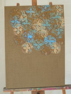 tela Espiritual Brown em pintura acrilica e tecnica mista  2011  - 50x70- acrylic on canvas - Melina Ollandezos