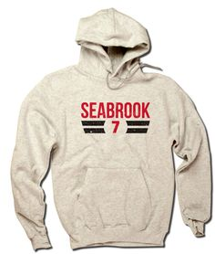 Brent Seabrook Officially Licensed NHLPA Chicago Men's Hoodie S-3XL Seabrook Font