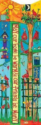 "6' ""Friends"" Birdhouse Art Pole Peace Pole Painted Peace Stephanie Burgess NIB"