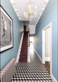 Working with the architect to create a unique and light-filled three bedroom family home in Classic Victorian terrace. Blending the original Victorian charm and features with elegant design for luxurious modern living. Victorian Terrace Hallway, Victorian Terrace Interior, Victorian Bedroom, Victorian Homes, Blue Hallway, Hallway Colours, Tiled Hallway, Oval Room Blue, Glass Extension