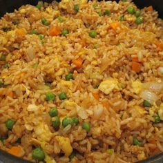 Fried Rice - had it for supper.  Good way to use up leftover chicken