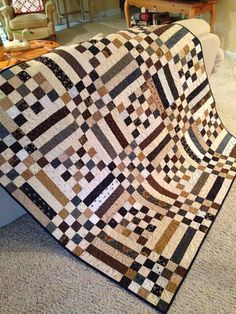 Scraps quilt by Berta Fernandez Yero