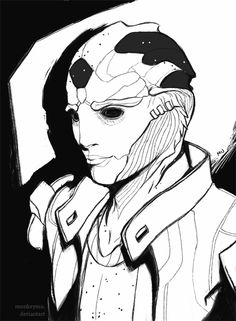 Never getting over how handsome he is. Lovely drawing too. #MassEffect #ThaneKrios