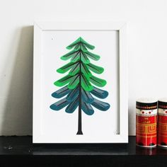 Our Workshop - Small Winter Tree Print