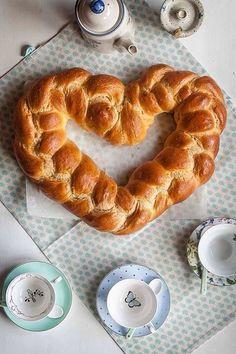 Braided bread  Heart