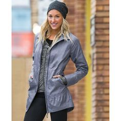 Oh, I really like this one.  A RAGLAN lightweight jacket...and it has a 2-way zip.  Excellent. -City Chick Coat | Athleta