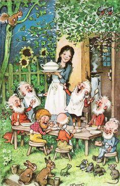 Snow White by Fritz Baumgarten Snow White Art, Baumgarten, Vintage Fairies, Fairytale Art, Children's Book Illustration, Illustrators, Fantasy Art, Fairy Tales, Drawings