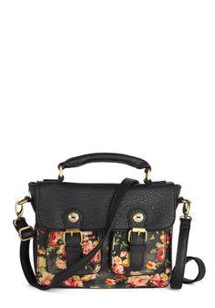 Florist of Nature Bag by Darling - Faux Leather, Black, Multi, Floral, Buckles, Better, International Designer, Vintage Inspired, 90s