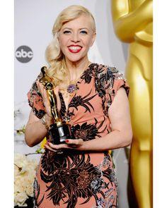 Catherine Martin con joyas de Jean Schlumberger para Tiffany & Co. en la Gala de los Oscars 2014