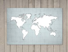 Gigantic Poster World Map Print - 39.4 in x 27.5 in - XLARGE. $30.00, via Etsy.