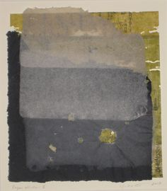 """Yuko Kimura - """"Paper Window II"""" 2010  handmade paper and etching on worm eaten antique bookpages from Japan"""
