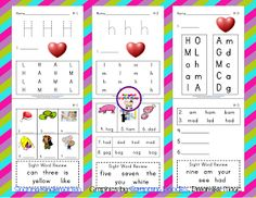 Common Core Classrooms: Hh Phonics Activities