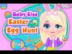 Baby Elsa Easter Egg Hunt - Frozen Game Movie