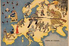 Anon, Mappa de Europa [Map of Europe]