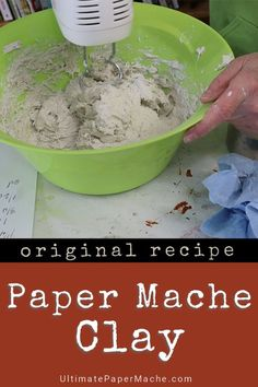 This is the original paper mache clay recipe, now used by thousands of people around the world. See the video for complete instructions. mache Paper Mache Clay - the Original Recipe Paper Mache Paste, Paper Mache Clay, Paper Mache Sculpture, Paper Mache Balloon, Paper Mache Flowers, Paper Clay Art, Paper Mache Projects, Paper Mache Crafts, Clay Crafts