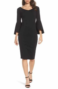 Felicity & Coco Milly Bell Sleeve Midi Dress (Nordstrom Exclusive)