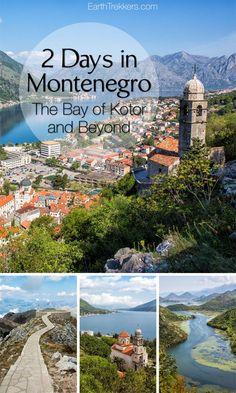 How to spend 2 days in Montenegro visiting Kotor Herceg Novi Lovcen Sveti Stefan Budva Skadar and more. Montenegro Kotor, Montenegro Travel, Montenegro Airport, Europe Travel Tips, European Travel, Travel Plan, Travel Ideas, Travel Guide, Travel Destinations