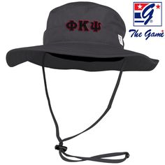 Phi Psi Charcoal Boonie Hat By The Game ®