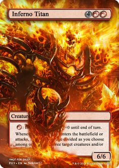 Inferno Titan Dungeon Master's Guide, Magic The Gathering Cards, Alternative Art, Magic Cards, Art Cards, Nerdy Things, Custom Art, Altered Art, Geek