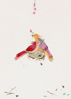 Luci Everett has been making some absolutely gorgeous new mixed media pieces.