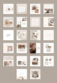 Social Media Discover PS & Canva Lucy - Social Media Pack by Eviory Instagram Design, Instagram Feed Layout, Instagram Grid, Instagram Post Template, Instagram Square, Layout Design, Design De Configuration, Graphisches Design, Home Decor