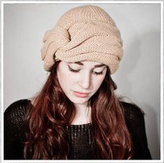 Beige knitted hat from Thistle & Thorn is environmentally conscious Ethical Fashion, Winter Season, Turban, Knitted Hats, Knitwear, Cool Style, Winter Hats, Beige, Trending Outfits
